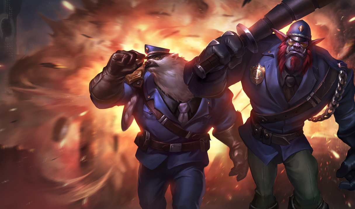 Captain Volibear e Constable Trundle