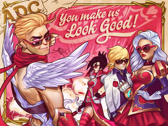 Cartões de Dia dos Namorados com Tema League of Legends - 2