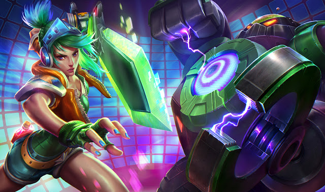 Splash Art da Arcade Riven e Battle Boss Blitzcrank-1