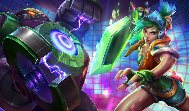 Splash Art da Arcade Riven e Battle Boss Blitzcrank