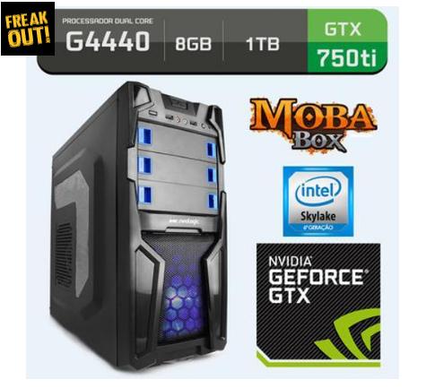 Computador Neologic Moba Box Intel Core G4440, Geforce Gtx 750ti, 1tb, 8gb, 400w - Nli57721