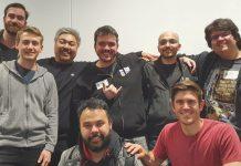 Gaules, Tecnosh e Fly com a equipe da Riot em Los Angeles
