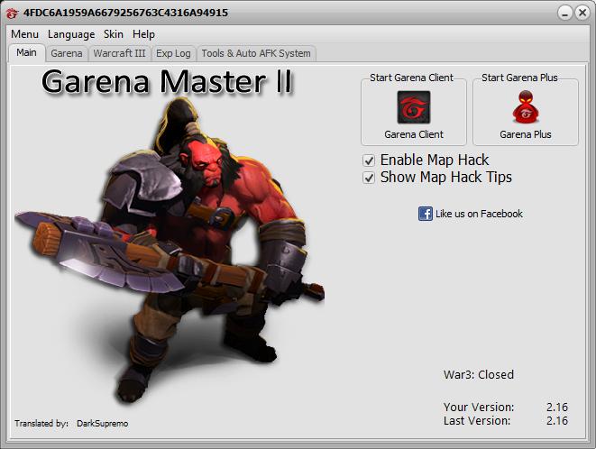 Garena Masters Maphack