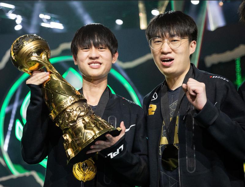 Ming e Xiaohu MSI 2021 Troféu