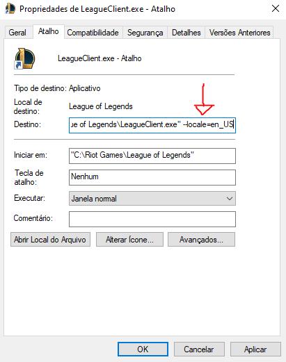 Imagem para ilustrar o tutorial de idioma do LoL
