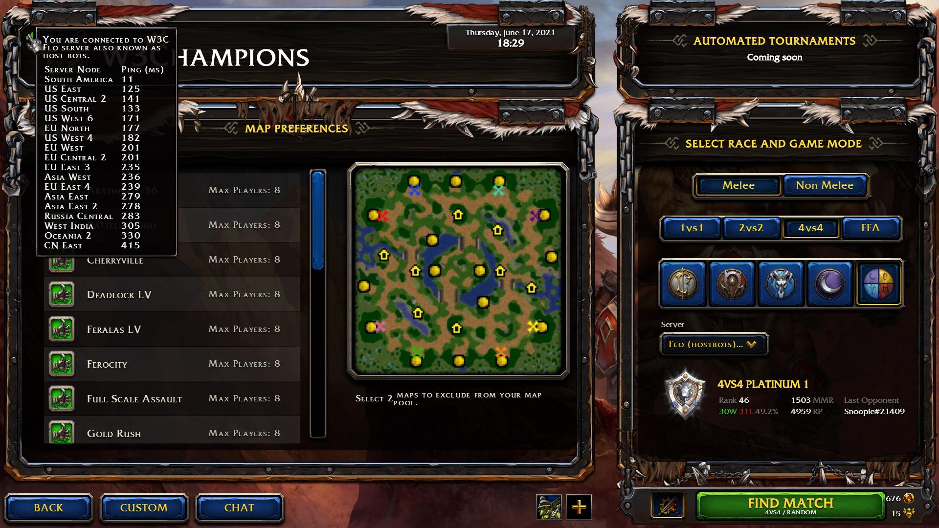 W3Champions Warcraft 3 Reforged