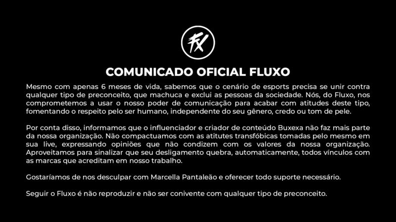 Comunicado Fluxo
