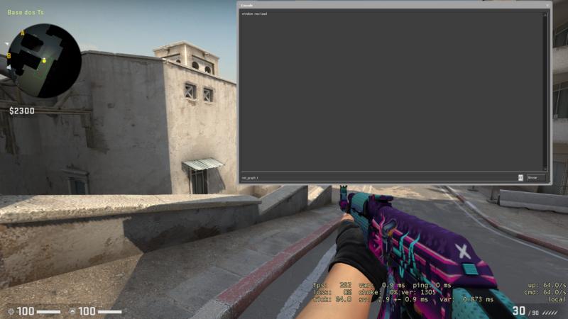 Imagem do comando para mostrar o FPS no CS:GO