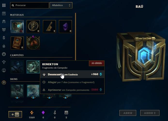 LoL Essência Azul League of Legends