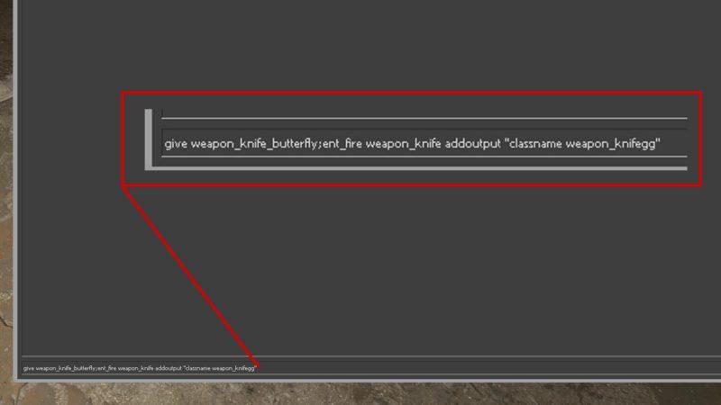 imagem para ilustrar o comando de faca no cs:go