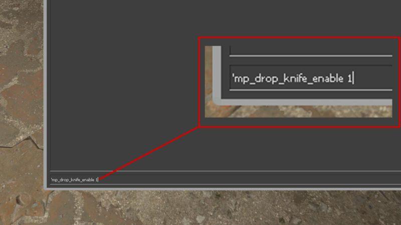 Imagem para ilustrar o comando de deixar faca cair no CS:GO