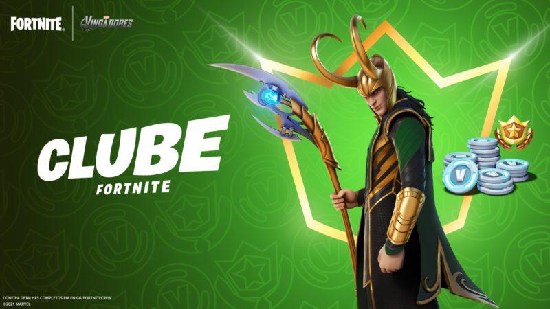 Skin do Loki no Clube Fortnite