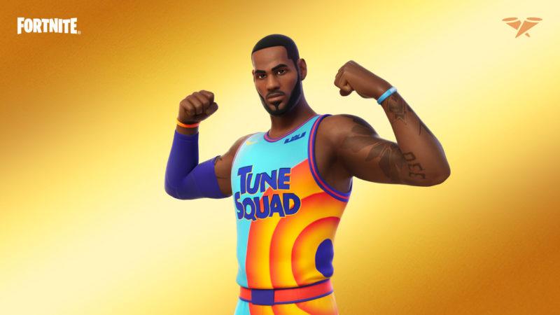imagem para ilustrar a skin Space Jam do LeBron James no Fortnite