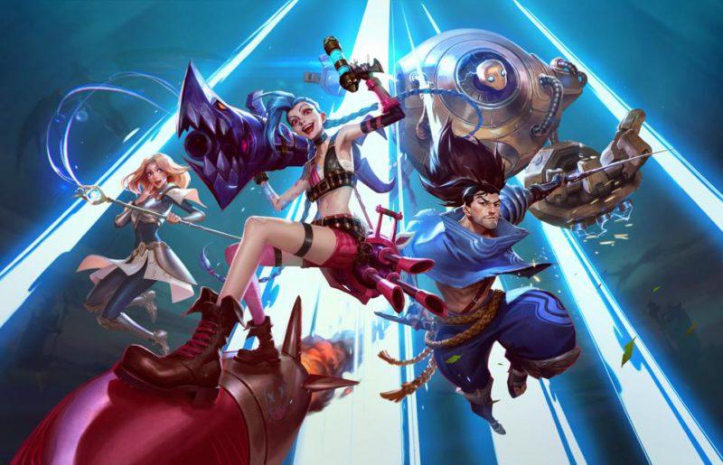 Personagens de Wild Rift e League of Legends jogos da Riot Games