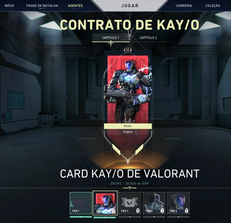 quinto passo de como desbloquear Personagens do Valorant