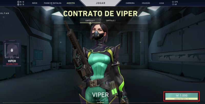 Imagem da Viper, uma das agentes do Valorant