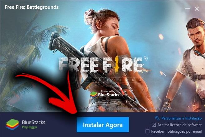 Free Fire no PC Bluestacks