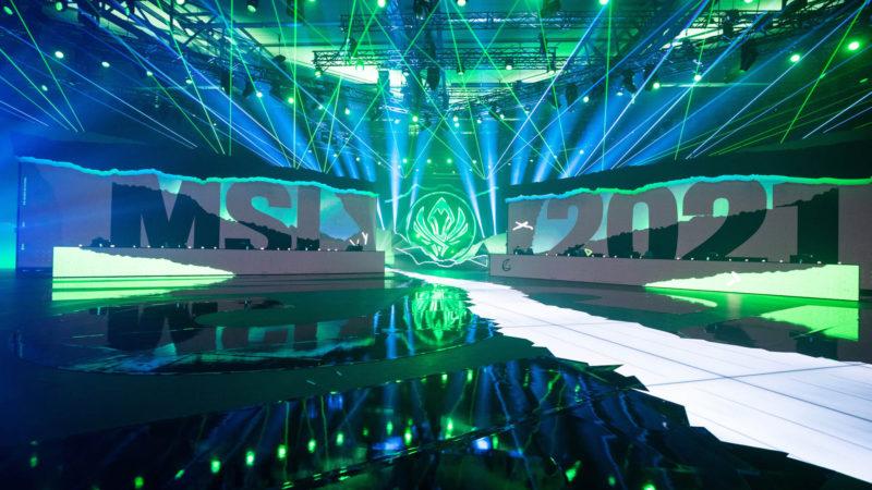 Foto do palco do MSI 2021, que aconteceu na Islândia