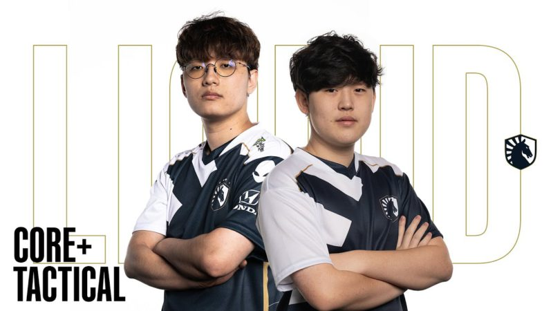 Foto do Corejj e Tactical, a dupla da bot lane da Team Liquid