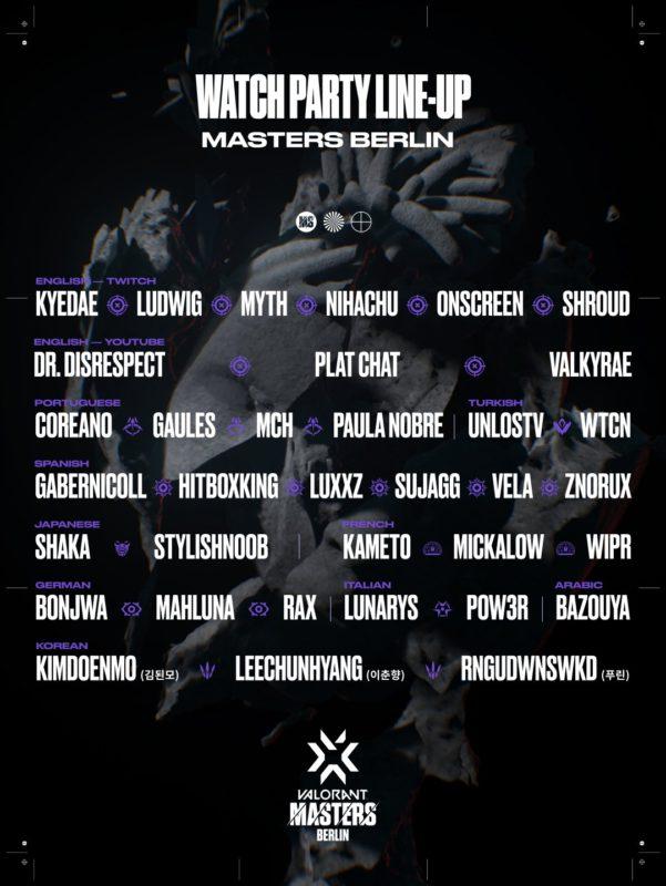 Imagem com os streamers que transmitirão o Masters Berlin